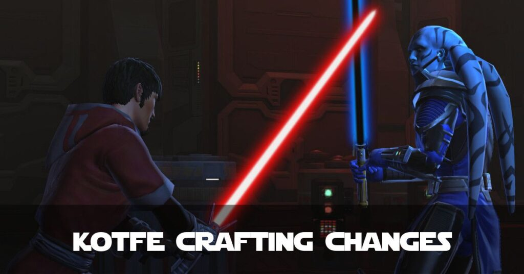 SWTOR - Crafting Changes in Knights of the Fallen Empire (KotFE)