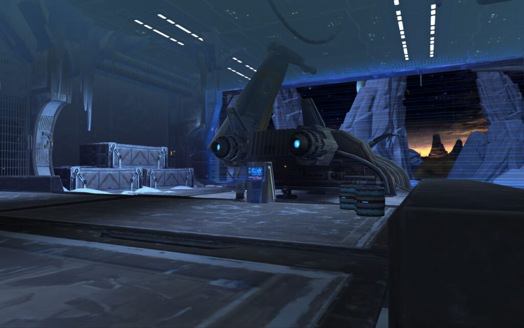 You take your shuttle to the landing pad to start The Battle of Ilum