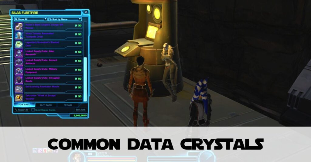 Common Data Crystals - How to Spend Them - SWTOR