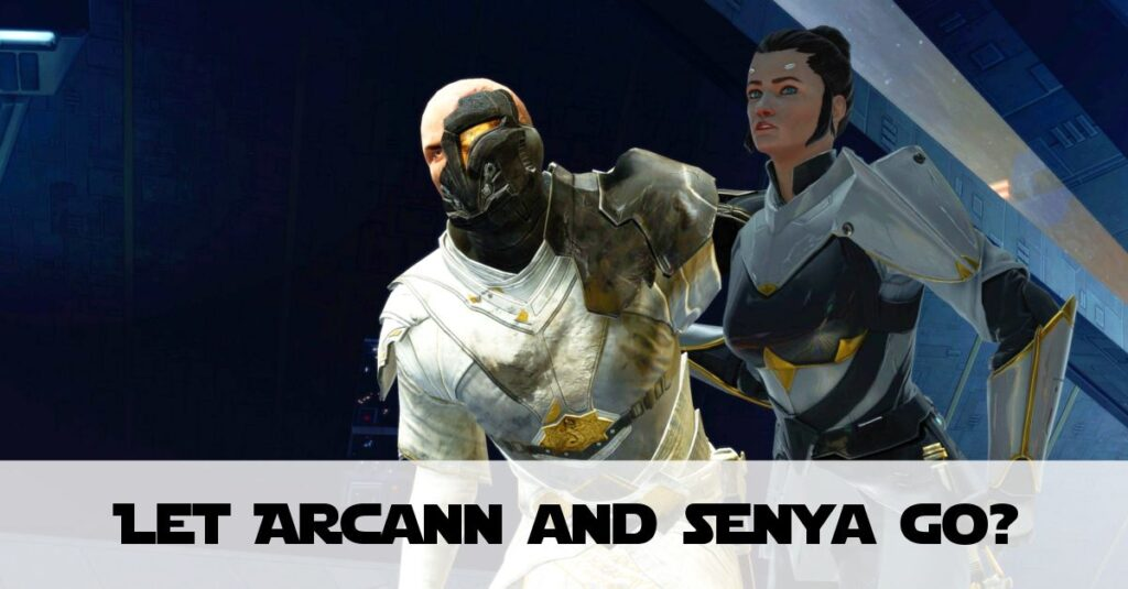 Let Arcann and Senya Go or Shoot them Down? (KotFE Chapter 16)