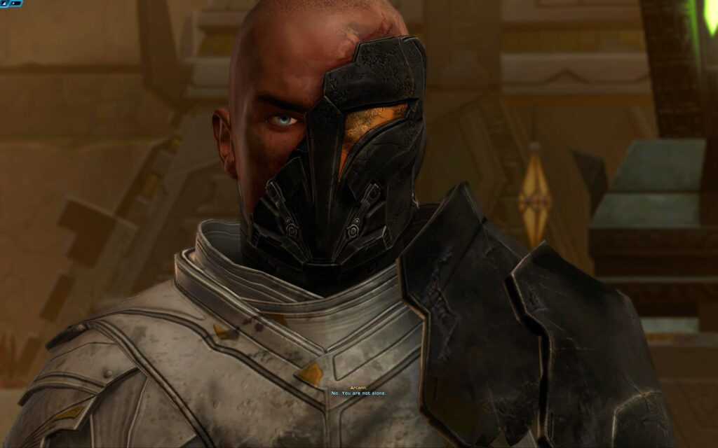 Arcann after the Voss Ritual has Blue Eyes