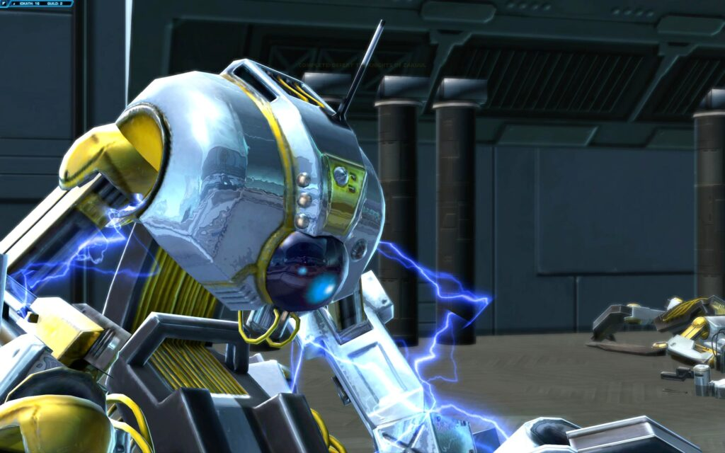 Cleansing Droid almost destroyed by you and Torian