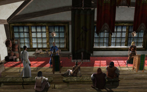 Inside the Auction Hall in Bree - LOTRO