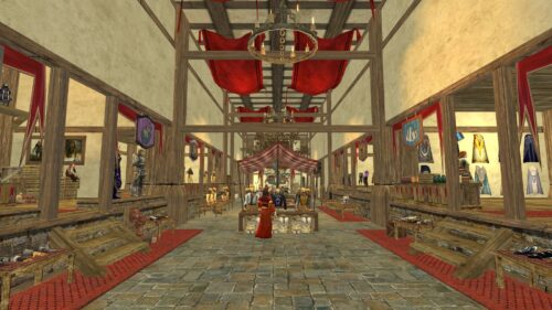 Inside Lalia's Market, where you can get outfits in exchange for Mithril Coins