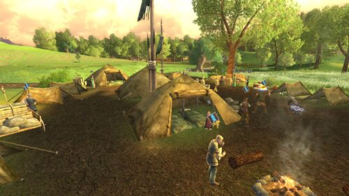 The Skirmish Camp is just outside Bree's South Gate