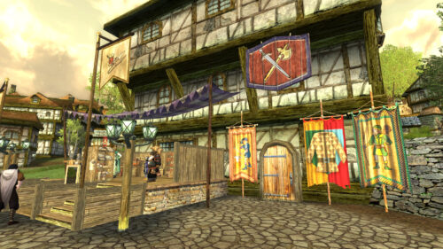 Weapons and Armour Shop, including an Outfitter