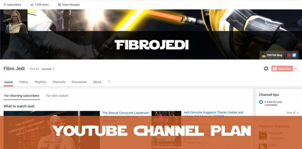 Fibro Jedi YouTube Channel Plan