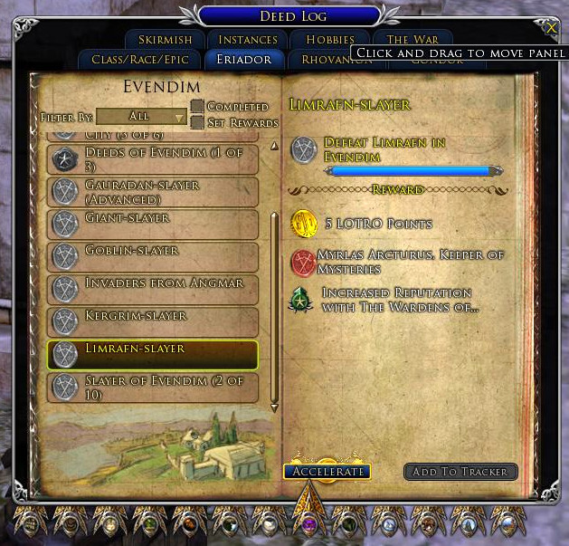 Deeds Earn LotRO Points
