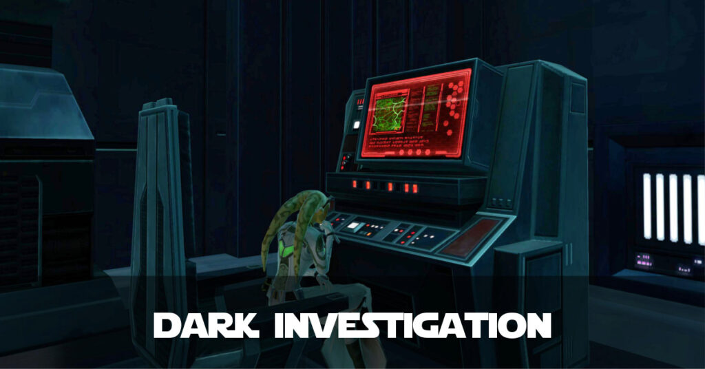 Dark Investigation Talitha'koum - SWTOR FanFiction