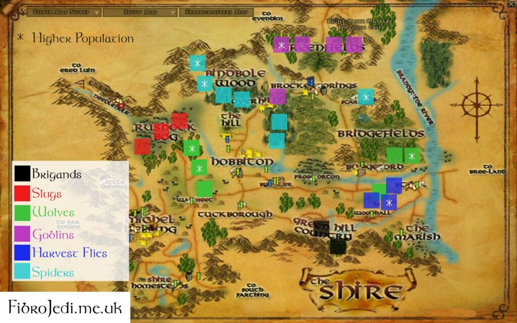 LOTRO The Shire Slayer Deed Map (free Download)