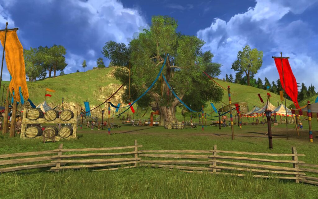 The Party Tree in The Shire - LOTRO