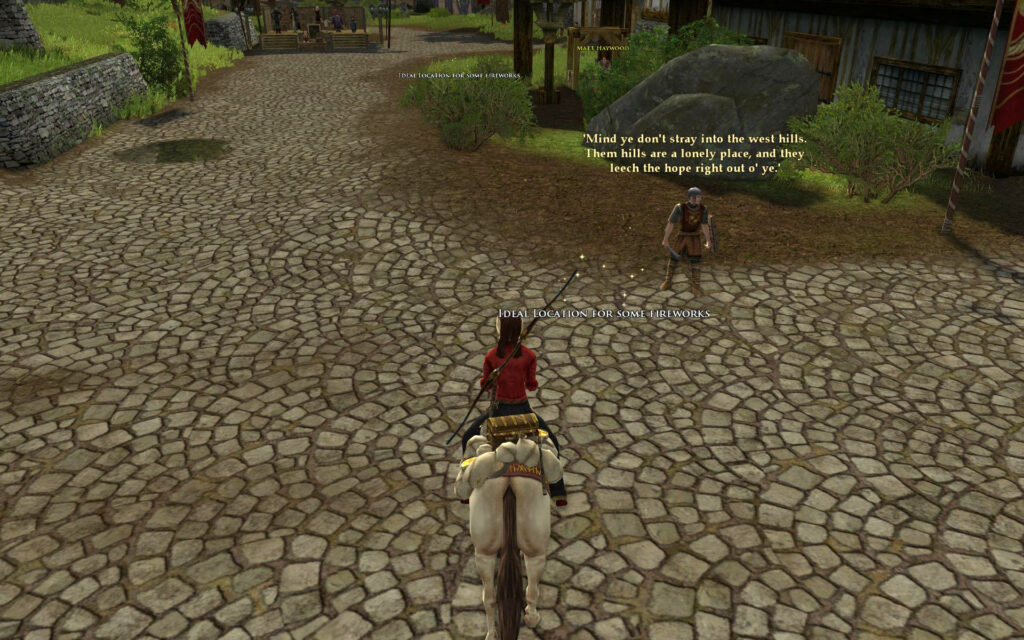 LOTRO Anniversary Quest - Sparking Interest - Ideal Location For Fireworks in Bree