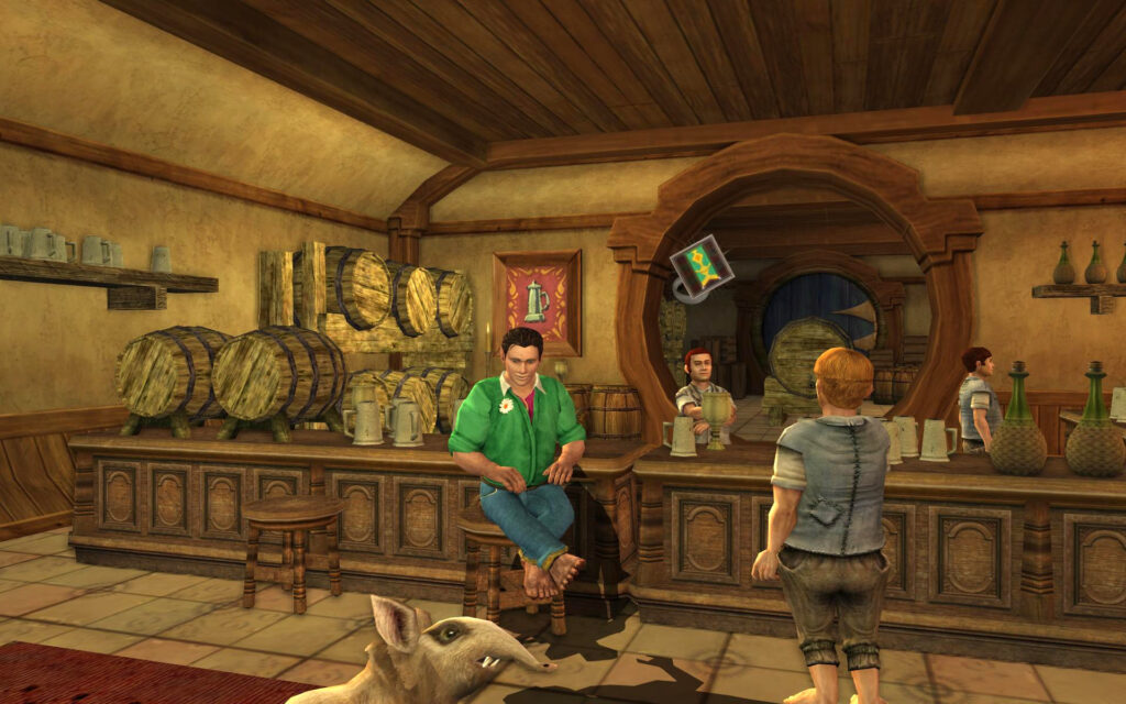 Having a Drink in the Golden Perch in Stock - LOTRO