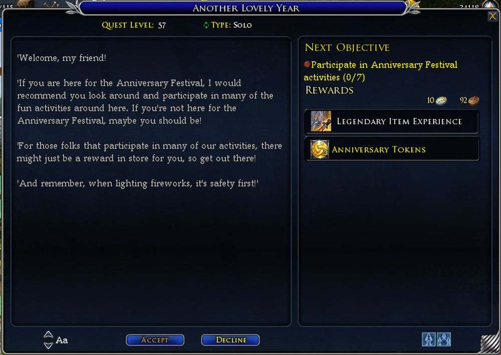 LOTRO Anniversary 2019 Event - Guide to Quests, Steeds and