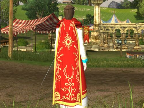 Cloak of the Shining Star Cosmetic - Dyed Red