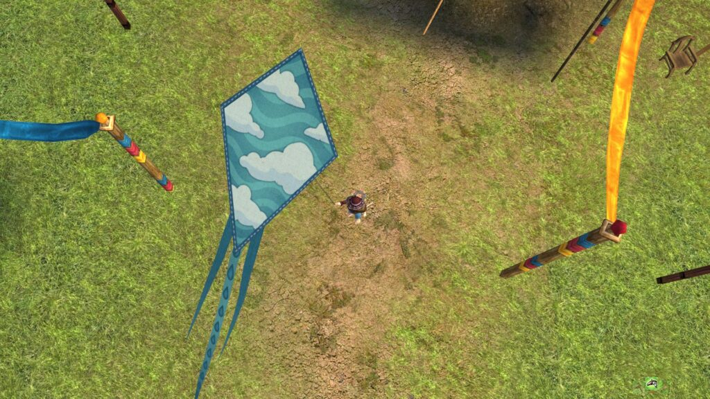 Sky of a Perfect Day Kite - LOTRO Cosmetic Pet (from above)
