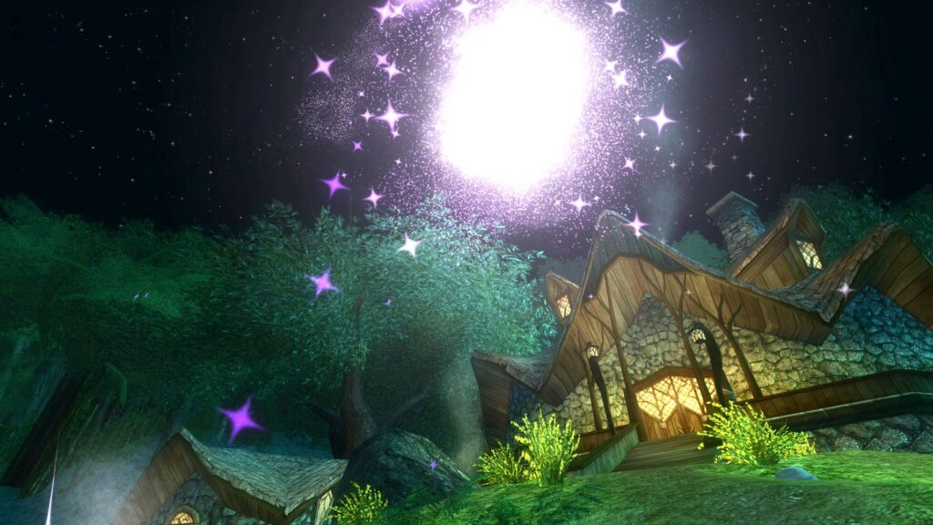 Setting off Purple Fireworks outside Tom Bombadil's House in the Old Forest
