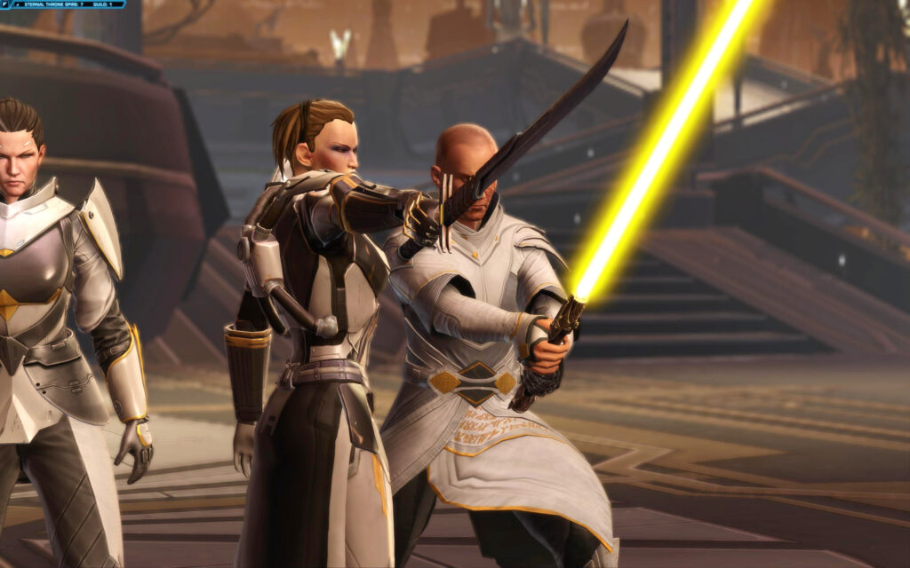 Fighting with Arcann and Senya in KotET Chapter 9 - The Eternal Throne