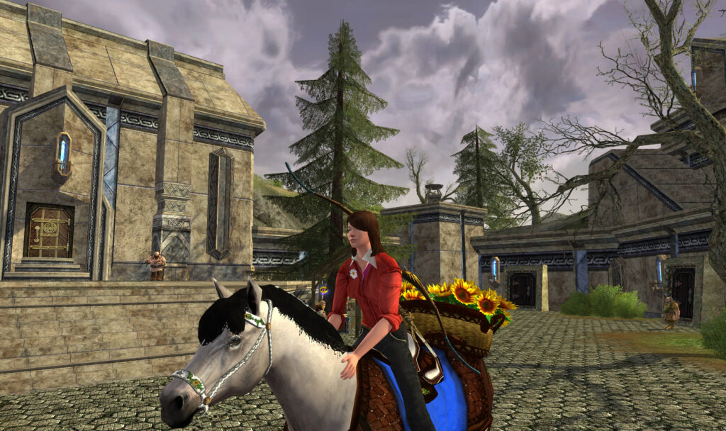 The 2017 LOTRO Summer Festival Sunflower Steed (New Model)