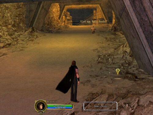 Ambi's note is in the Eastern tunnel to Thorin's Hall Inn