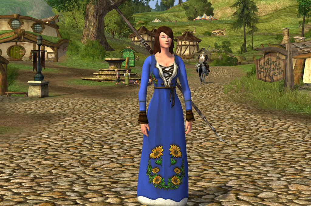 Long-Sleeved Sunflower Dress Cosmetic