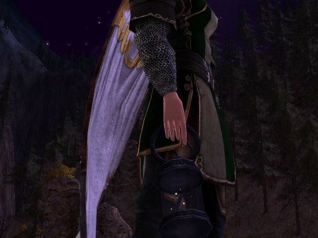 The LOTRO Firefly Lantern - a held cosmetic - a night time