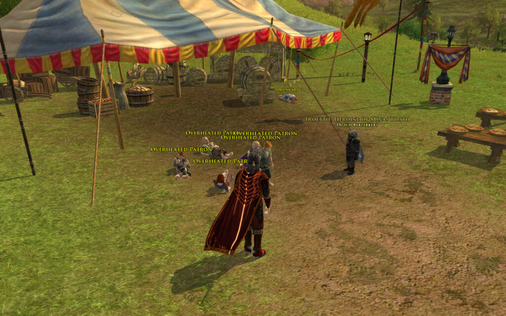 Overheated Patrons at the LOTRO Summer Festival