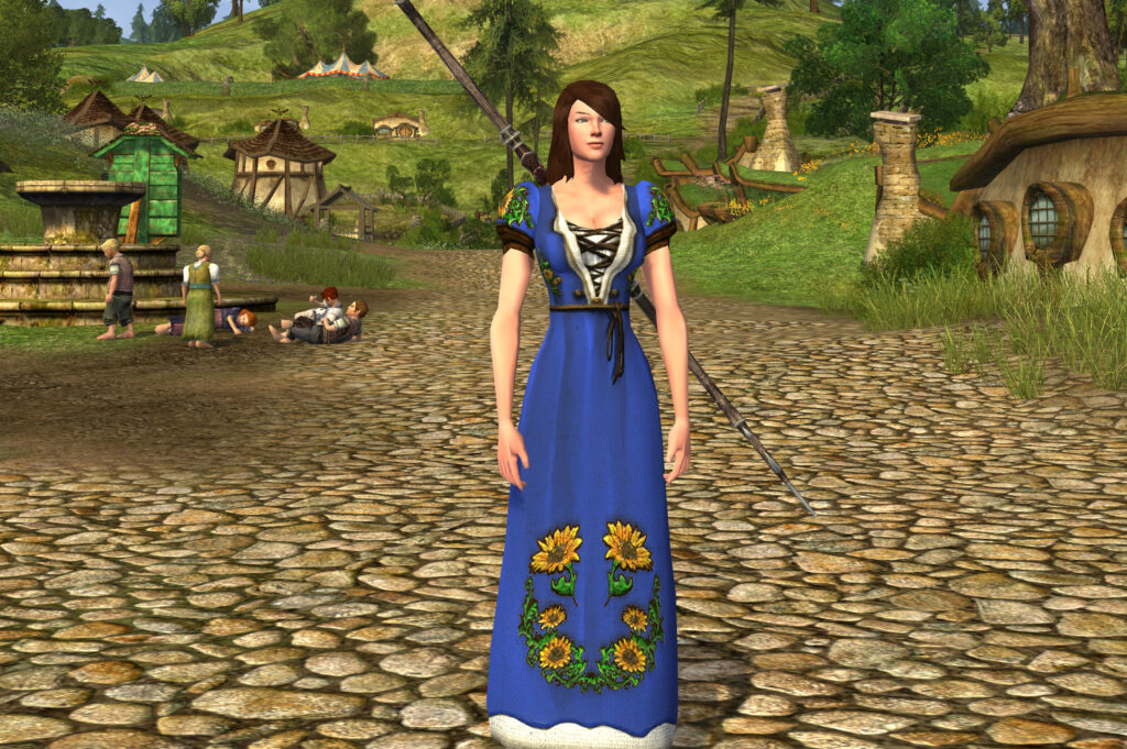 Short-Sleeved Sunflower Dress Cosmetic