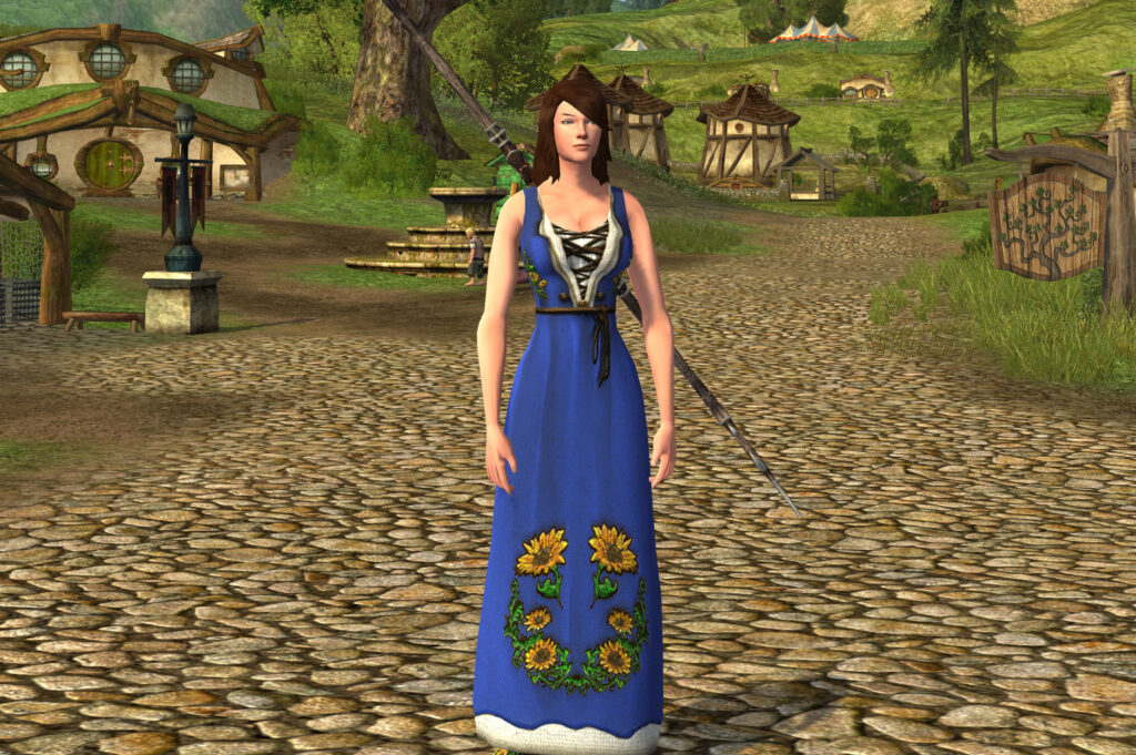 Sleeveless Sunflower Dress Cosmetic