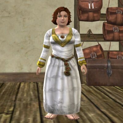 White Ceremonial Dress Cosmetic