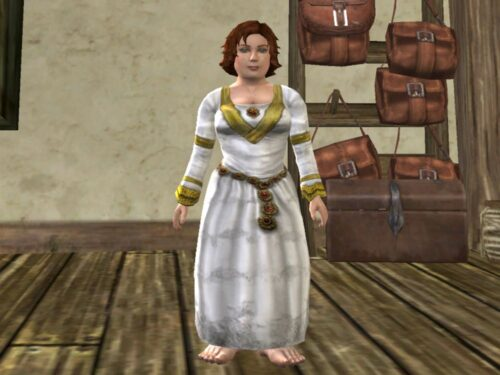 The White Ceremonial Dress Cosmetic