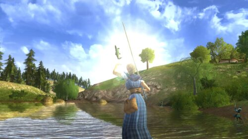 The Farmers Faire has a number of Fishing quests that are luck not skill-based