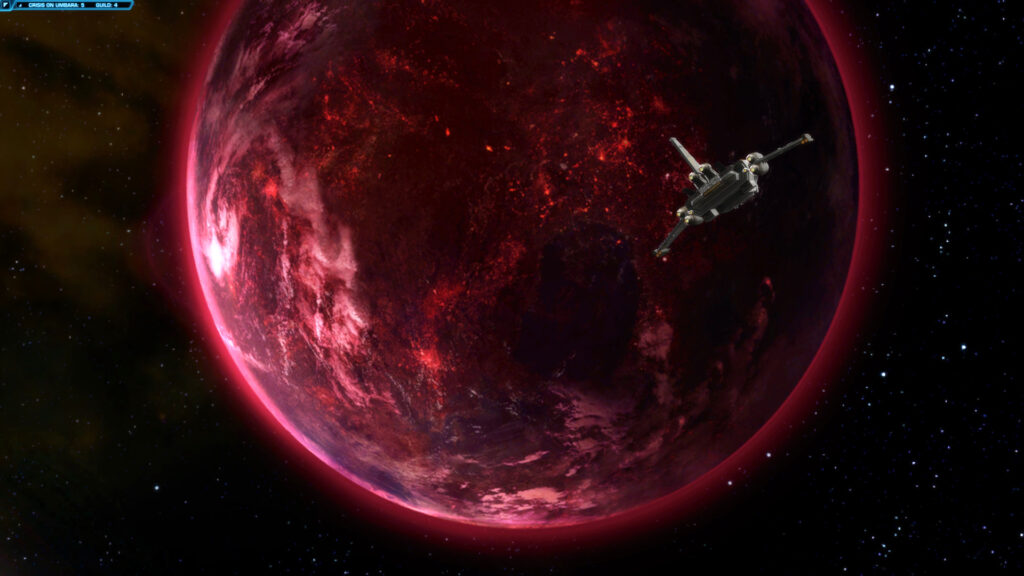 The Planet Umbara view from Space