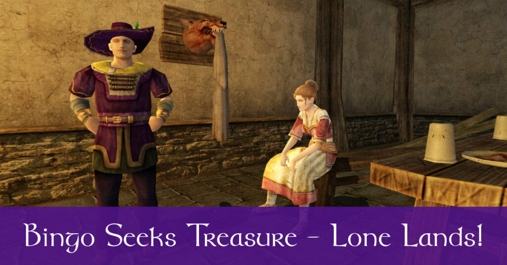 Bingo Boffin Seeks Treasure in the Lone Lands! Story and Puzzle Solutions!