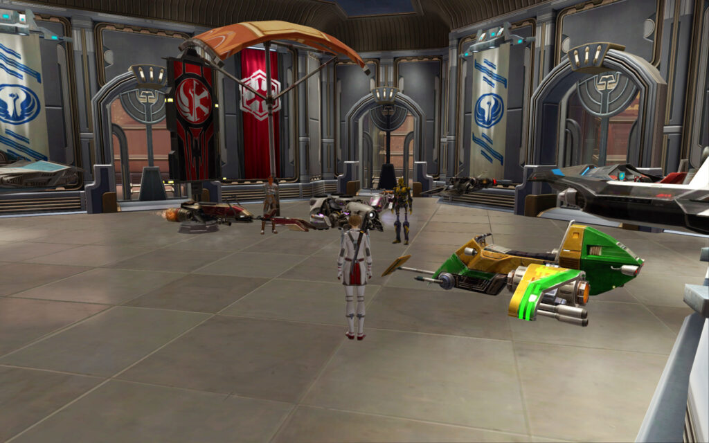 Gault's Preloved Speeder Bazaar in the Coruscant Stronghold