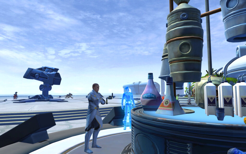 Arcann eyes up the Drinks Machine (Nar Shadaa Nightlife Event)