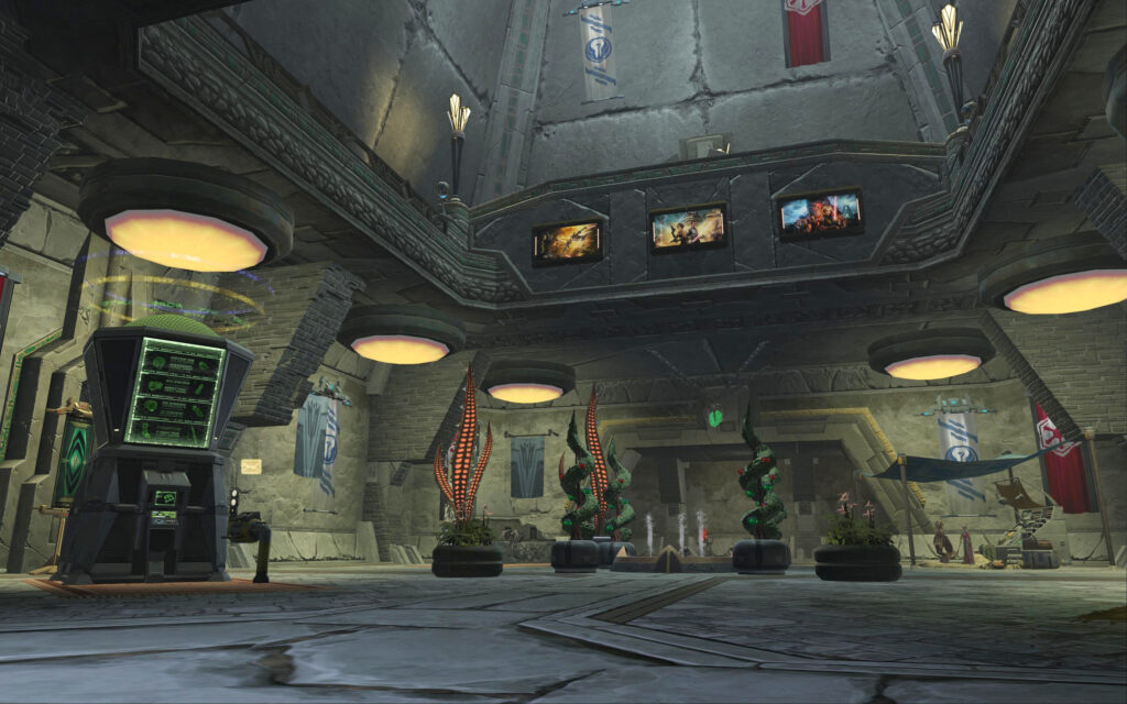 Hall Way / Utility Room as soon as you enter Yavin 4 Stronghold