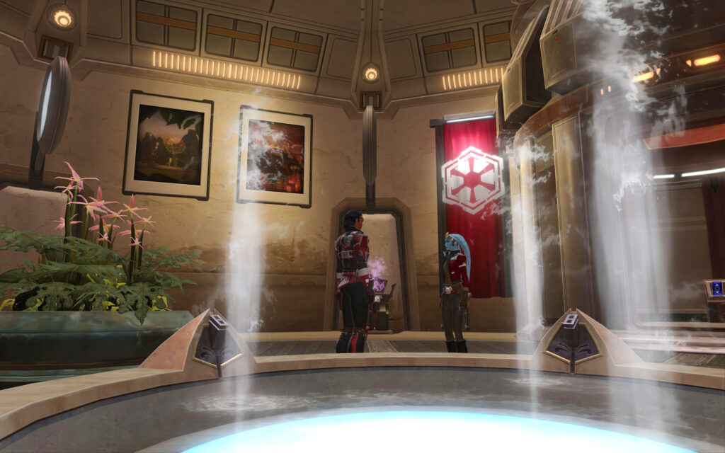 Banners, Artworks and Jedi Temple Fountains in Tatooine Stronghold