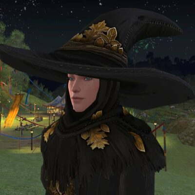 Cowl and Hat of the Autumn Sage - Shoulder Cosmetic - LOTRO Fall Festival