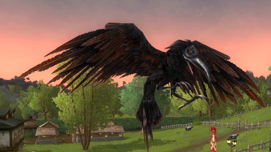 Soot-Featurered Crow - a Longbeak Craban Cosmetic Pet