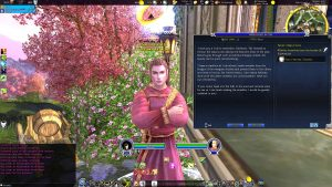 Wreathed in Fir: Anglalaith is the Quest-giver in Duillond