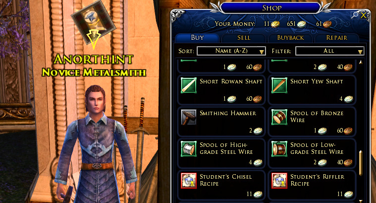 LOTRO Crafting - A Beginner's Guide, Choosing Your Profession and FAQ