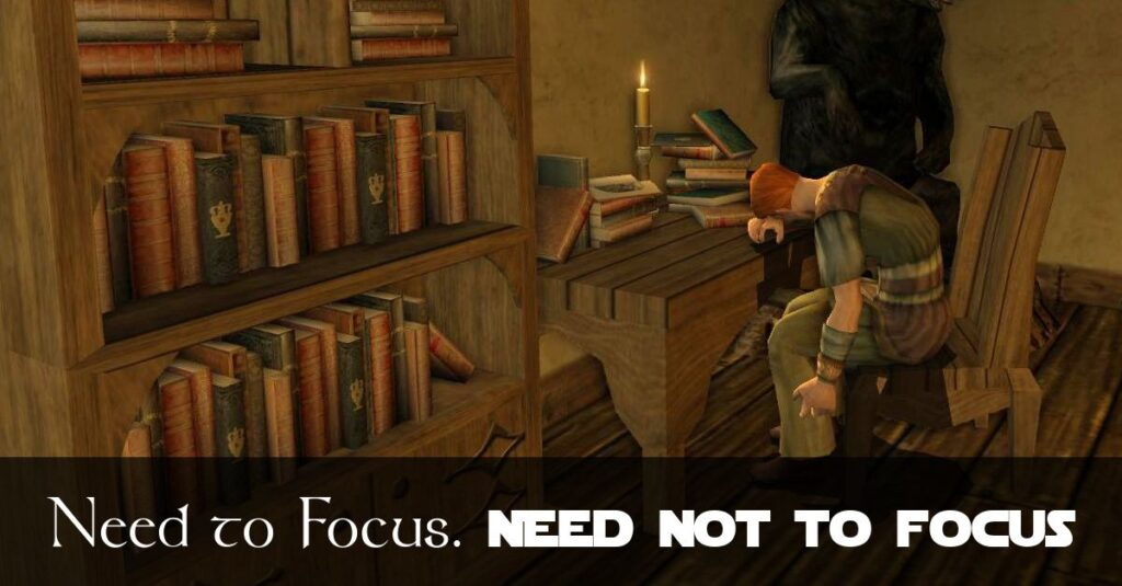 A Need to Focus and Not to Focus