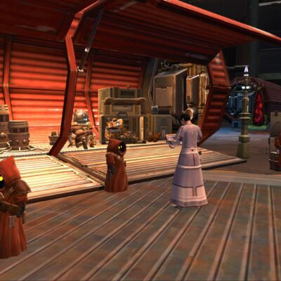 Jawa Junk Vendors in the Cartel Bazaar on both Imperial and Republic Fleet