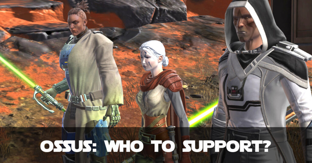 SWTOR Jedi Under Siege on Ossus - Who to Support, Empire or Republic?