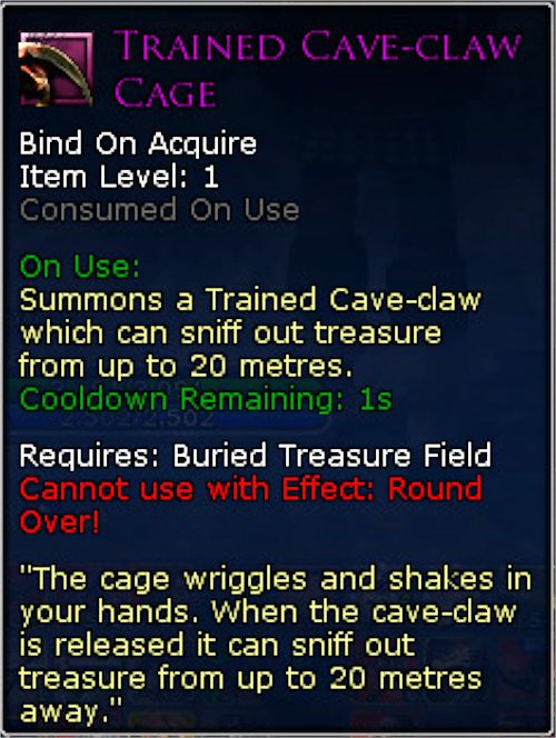Trained Cave-Claw Cage Item