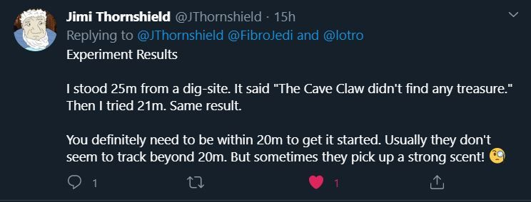 It seems the Cave-Claw has a stronger nose than we thought