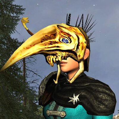 Golden Cave-Claw Mask from the LOTRO Buried Treasure Event