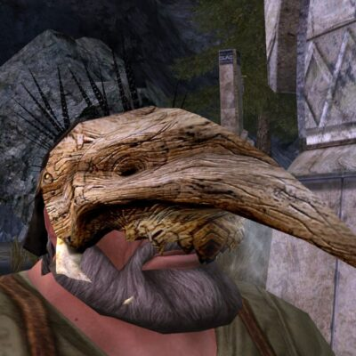 Wooden Cave-Claw Mask cosmetic