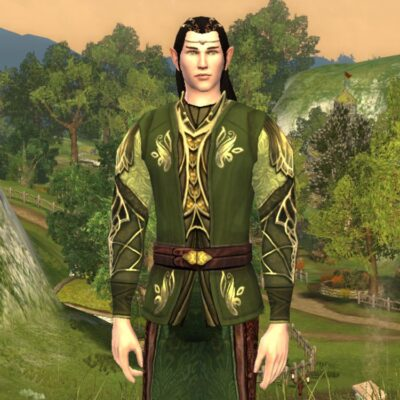 Lasgalen Spring Tunic and Trousers - Spring Festival Upper Body Cosmetic